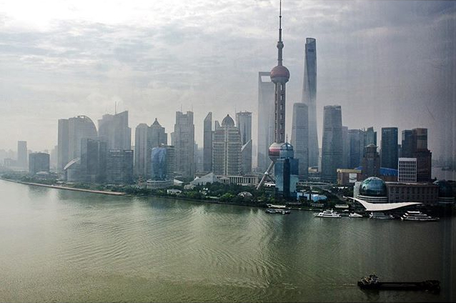 I woke up in a room with an amazing view of Shanghai