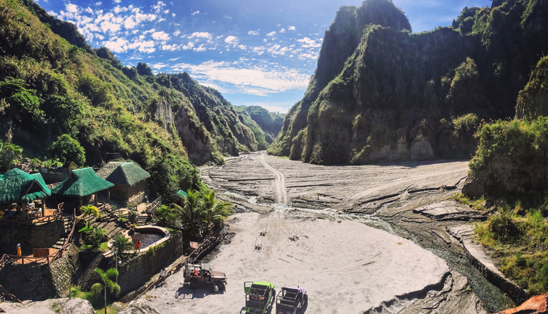Traversed the volcanic ash from Mount Pinatubo for a soak in the Puning Hot Springs of Angeles, Pampanga